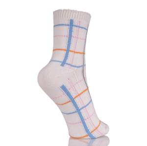 Women's Modern Classic Socks Cotton Ladies Plaid Tube Short Socks