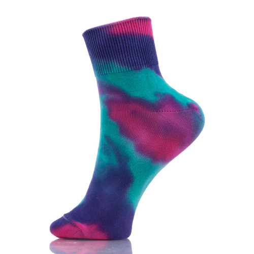 Unisex Novelty Colorful Tie-dyeing Skateboard Socks Cotton Long Socks Meias