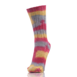Personality Trend Unisex Fashion Colorful Tie Dye Thick Line Pile Socks Casual Cotton Socks