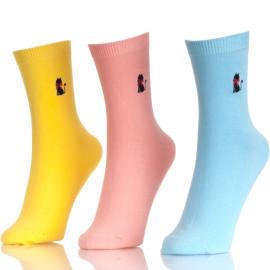 Fashion Cotton Cute Hot New Hosiery Solid Socks Mid Tube Socks Candy Color Women