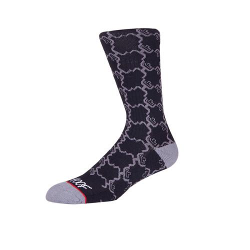 Manufacturer Wholesale Socks With OEM Woven Custom Logo Mens Socks Design Crew Black