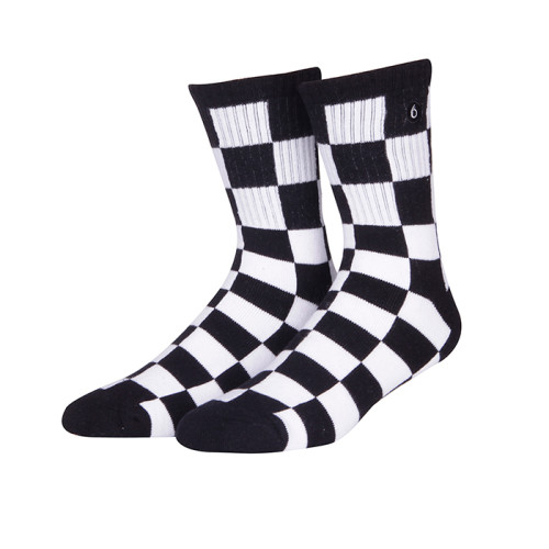 Factory Price Wholesale Anti-slip Outdoor Sports Custom Black And White Socks