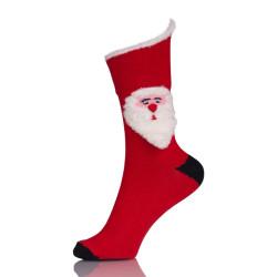 Custom 3D Red Christmas Boot Elite Socks