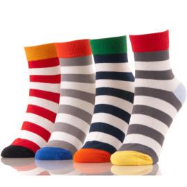 Wholesale Anti Slip Indoor Colorful Crew Striped Socks