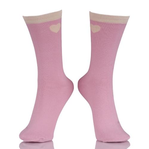 Wholesale Girl Hot Pink Dress Bow Socks