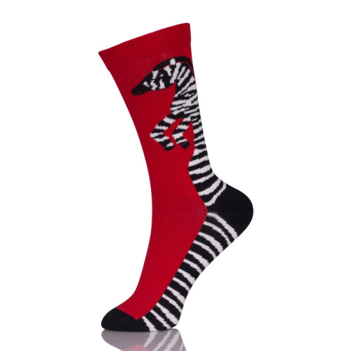 Red Sox Animals Zebra Print Socks