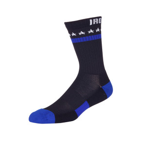 Mens Black Crew Socks, Moisture Wicking Cotton Thick Cushion Quality Athletic or Work Socks