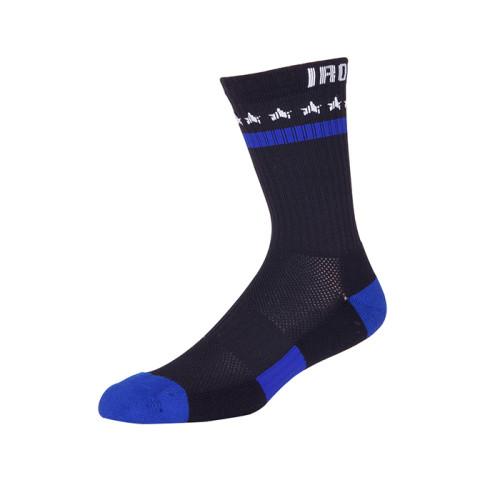 Mens Black Crew Socks, Moisture Wicking Cotton Thick Cushion Quality Athletic or Work Socks