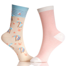 Customized Girl Tube School Socks With Stripes