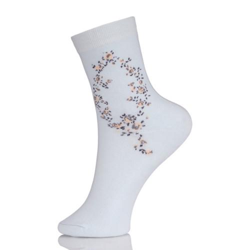 Ladies Black Ankle Boot Dress Socks