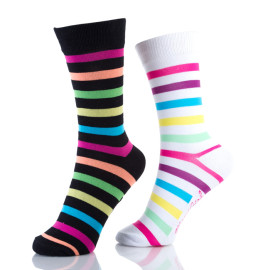 Cute Crew Colorful Striped Summer Socks Womens