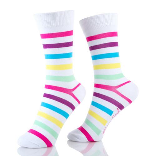Cute Crew Colorful Striped Summer Socks Womens