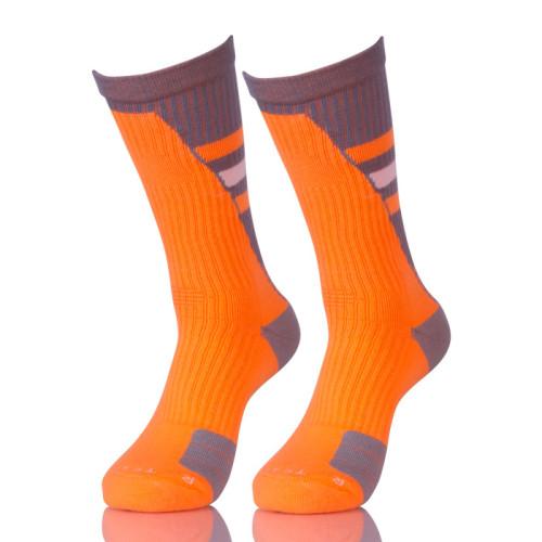 Orange Youth Basketball Socks For Youth