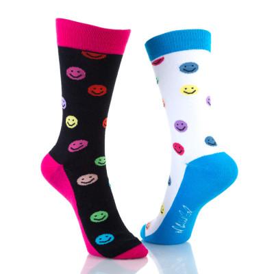 Fun Crew Dress Smile Socks Womens
