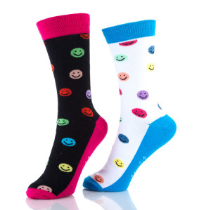 Fun Crew Dress Smile Socks Womens
