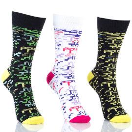 Womens Trendy Patterned Crew Socks Fashion