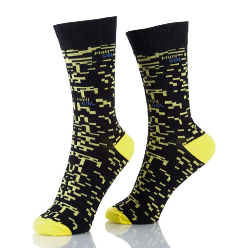 Womens Trendy Patterned Crew Socks Fashion