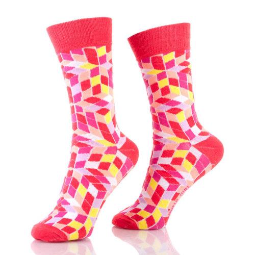 Multi Color Red Black Blue Crazy Soft Socks For Women