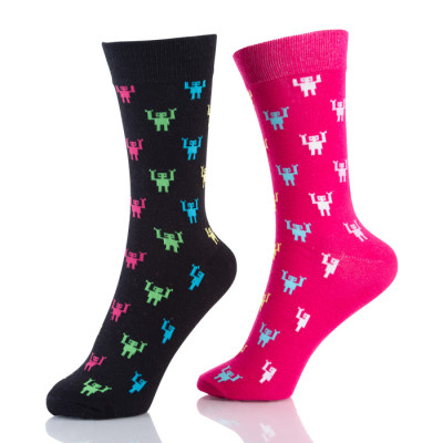 Womens Multi Colored Socks Fashion Black And Red