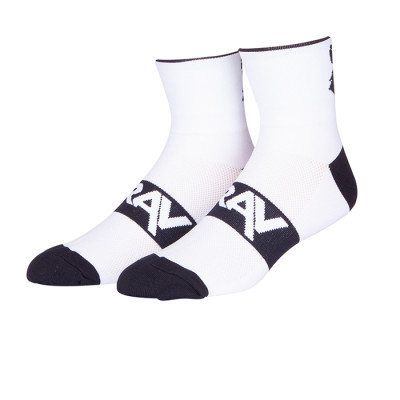 Zhuji Fashion 100% Cotton Novelty Tube White Athletic Anti Slip Cycling Bike Socks