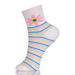 Really Nice Trendy Womens Socks Flower Patterned