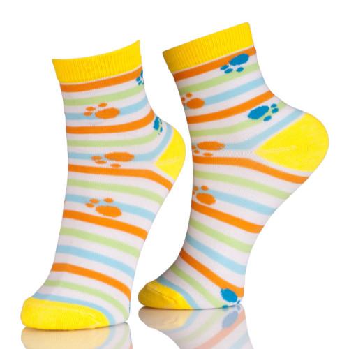 Dog Paw Print Ankle Socks Wholesale