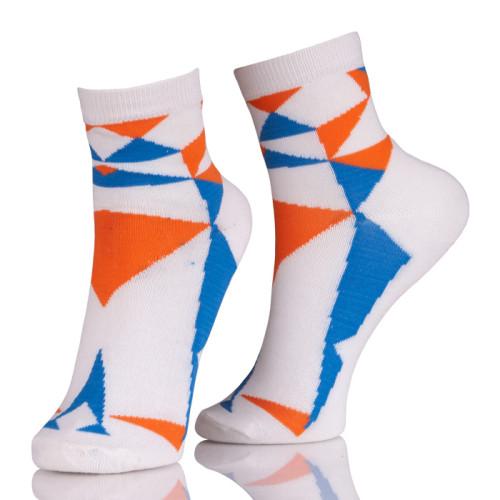 Short Plaid Pattern Ankle Socks Women