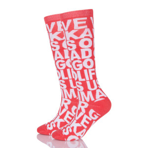 Athletic Long Compression Socks Fancy Color