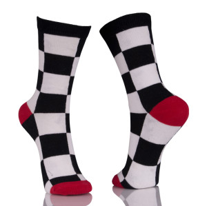 Black And White Athletic Crew Socks