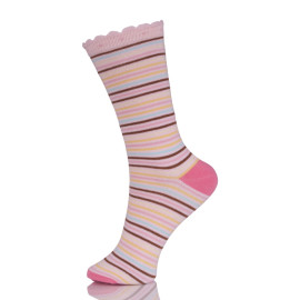 Bulk Wholesale Colorful Stripes Tube Socks Pink