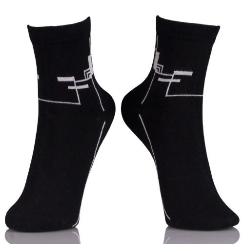 Custom Black Athletic Crew Socks With Logo