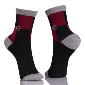 Women Thin Anti Slip Gray Sock Athletic Sport