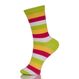 Young Women Colour Block Cotton Pop Socks