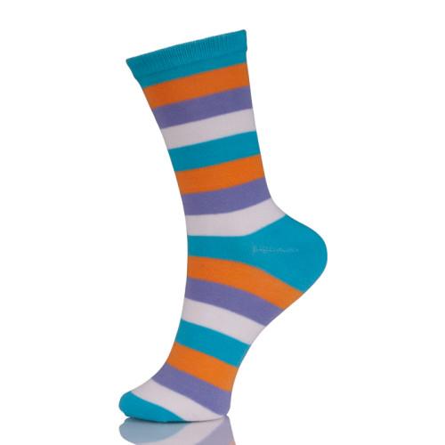 Young Women Colour Block Cotton Pop Socks