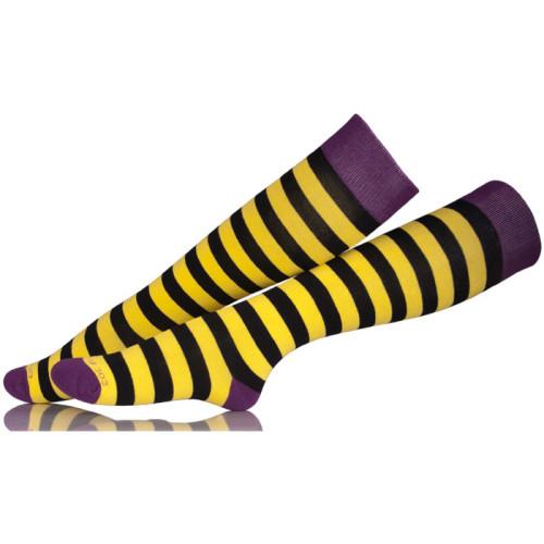 Sheer Sock Manufacturer Legging Women Long Orange Striped Thigh Socks