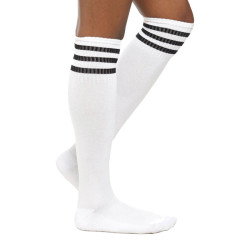 Knee High Blank White Inventory Of 100% Cotton Student White Socks