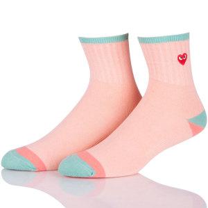Colorful Heart Korean School Socks Cute