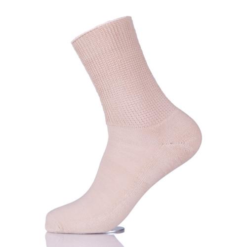 Women Diabetic Loom Knitting 100% Cotton Yarn Socks