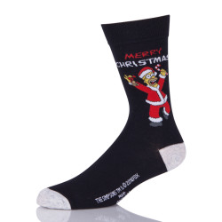 Funny Black Mens Christmas Socks