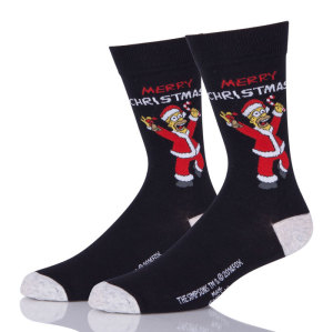 Funny Black Mens Christmas Socks