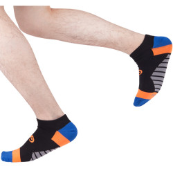 Seamless Black Running Socks Mens