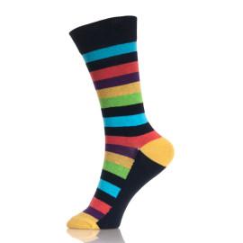 Stripes Long Colorful Men'S Socks Stock Sales