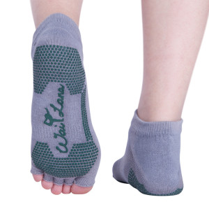 Non Slip Yoga Pilates Barre Grip Socks, Non Skid, Open Foot Sock (Custom Size)
