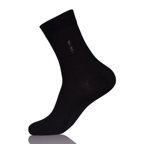 Custom Black Business Job Dress 100% Bamboo Socks Mens