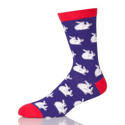 Cute White Rabit Purple Socks