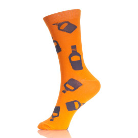 Bottle Patterned Men Colored Custom Socks