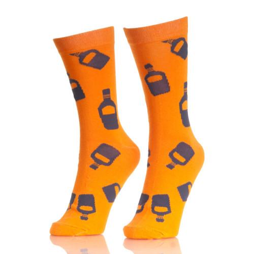 Bottle Patterned Men Colored Custom Socks