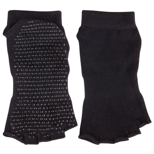 Pilates Non Skid Half Toe Grip Socks Bamboo Open Toe Socks
