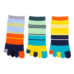 Colored Young Bamboo Yoga Toe Socks Women