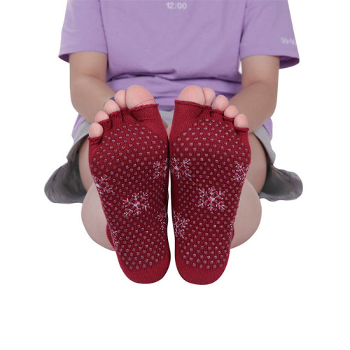 Athletic Toe Yoga Grip Socks Custom Logo